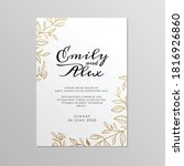 wedding invitation card with... | Shutterstock .eps vector #1816926860