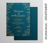 wedding invitation card with... | Shutterstock .eps vector #1816926869