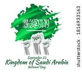 september 23  happy kingdom of... | Shutterstock .eps vector #1816933163