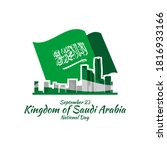 september 23  happy kingdom of... | Shutterstock .eps vector #1816933166