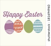 happy easter decorative pastel... | Shutterstock .eps vector #181694960