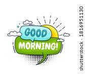 good morning  colorful speech... | Shutterstock .eps vector #1816951130