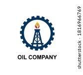 oil mining company logo designs ... | Shutterstock .eps vector #1816966769