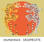 traditional japanese tiger for... | Shutterstock .eps vector #1816981376