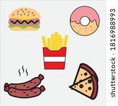 fast food in meat restaurants | Shutterstock .eps vector #1816988993