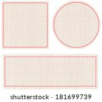 set of pieces of woven fabric... | Shutterstock .eps vector #181699739