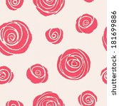 seamless pattern with... | Shutterstock .eps vector #181699886