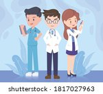doctor and medical team... | Shutterstock .eps vector #1817027963