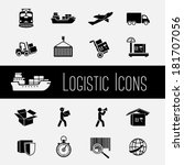 logistic global supply chain... | Shutterstock .eps vector #181707056
