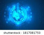abstract futuristic internet... | Shutterstock .eps vector #1817081753