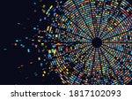dna test infographic. genome... | Shutterstock .eps vector #1817102093