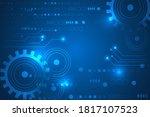 abstract futuristic internet... | Shutterstock .eps vector #1817107523