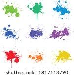 paint splats isolated on white... | Shutterstock .eps vector #1817113790