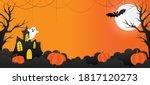 halloween banner vector. happy... | Shutterstock .eps vector #1817120273