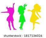 Outline Of A Dancing Girl Set....