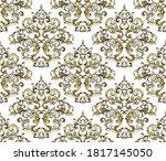 vector damask vintage baroque... | Shutterstock .eps vector #1817145050
