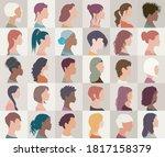 avatar set portrait collection...   Shutterstock .eps vector #1817158379