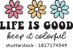 life is good daisy colorful... | Shutterstock .eps vector #1817174549