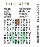 Halloween Word Search Puzzle...