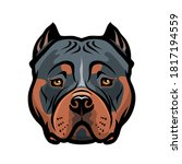 american bully dog isolated... | Shutterstock .eps vector #1817194559