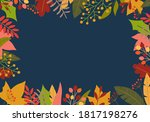 autumn background with colorful ... | Shutterstock .eps vector #1817198276