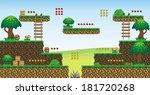 a set of vector game asset ... | Shutterstock .eps vector #181720268