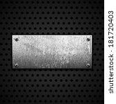 grunge metal background | Shutterstock .eps vector #181720403