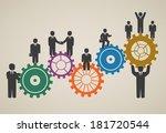 workforce  team working ... | Shutterstock .eps vector #181720544