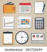 set of business elements of... | Shutterstock .eps vector #181720694