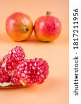Fresh And Delicious Pomegranat...