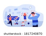active naughty kids at home.... | Shutterstock .eps vector #1817240870