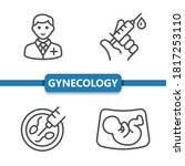 gynecology icons. professional  ...   Shutterstock .eps vector #1817253110