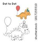dot to dot game for preschool... | Shutterstock .eps vector #1817255510
