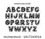 decorative alphabet hand drawn... | Shutterstock .eps vector #1817263016