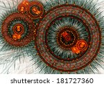 fiery  clockwork machine   Shutterstock . vector #181727360