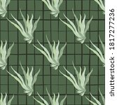 Seamless Pattern In Green...