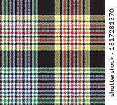 rainbow glen plaid textured... | Shutterstock .eps vector #1817281370