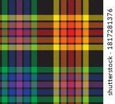 rainbow glen plaid textured...   Shutterstock .eps vector #1817281376