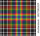 rainbow glen plaid textured...   Shutterstock .eps vector #1817281529