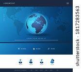 technology website design... | Shutterstock .eps vector #1817283563