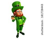 leprechaun stands with... | Shutterstock . vector #181728443