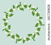 floral wreath with bunches of... | Shutterstock .eps vector #181730828