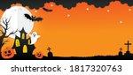 halloween banner vector. happy... | Shutterstock .eps vector #1817320763