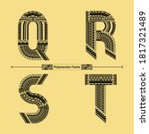 vector graphic alphabet in a... | Shutterstock .eps vector #1817321489