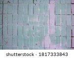 Abstract White Color Brick Wal...