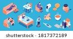 isometric cold flu virus color...   Shutterstock .eps vector #1817372189