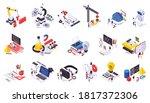 stem education isometric icons... | Shutterstock .eps vector #1817372306