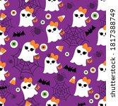 spooky halloween seamless... | Shutterstock .eps vector #1817388749