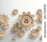 vector cardboard graphics | Shutterstock .eps vector #181740956