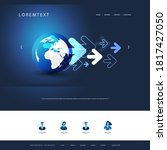technology website design... | Shutterstock .eps vector #1817427050